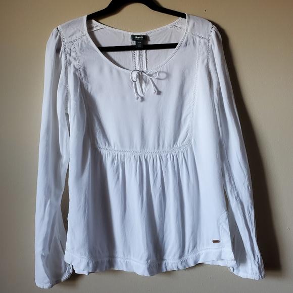 Roots white Bohemian blouse size M